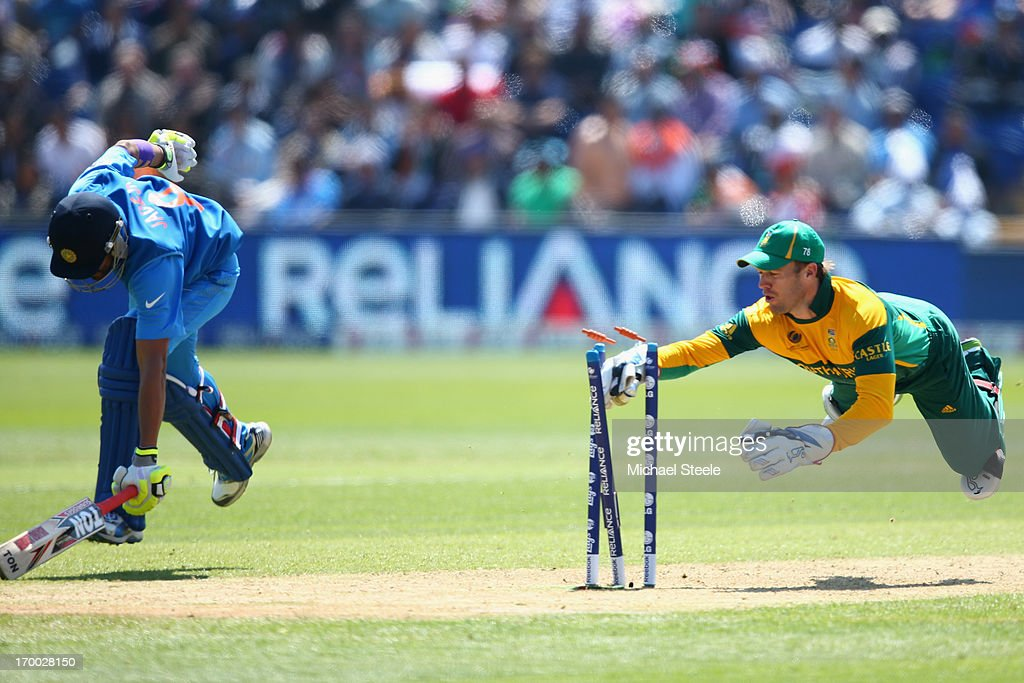 India v South Africa: Group B - ICC Champions Trophy : News Photo