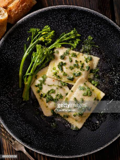 Ravioli in Brown Butter and Garlic Sauce