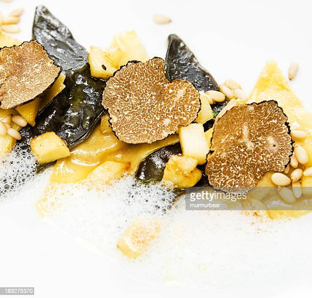 Ravioli with truffle slices