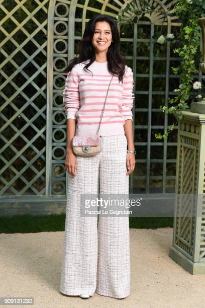 Ravshana Kurkova attends the Chanel Haute Couture Spring Summer 2018 show as part of Paris Fashion Week on January 23 2018 in Paris France