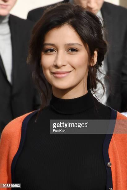 Ravshana Kurkova attends the Chanel show as part of the Paris Fashion Week Womenswear Fall/Winter 2018/2019 at Le Grand Palais on March 6 2018 in...