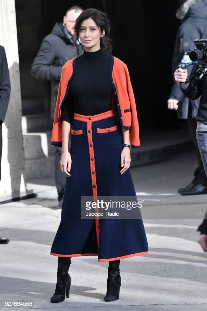 Ravshana Kurkova is seen arriving at Chanel Fashion Show during the Paris Fashion Week Womenswear Fall/Winter 2018/2019 on March 6 2018 in Paris...