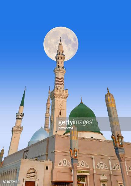 ravza medina - al haram mosque stock photos and pictures