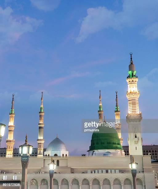 ravza medina - saudi arabian flag stock photos and pictures
