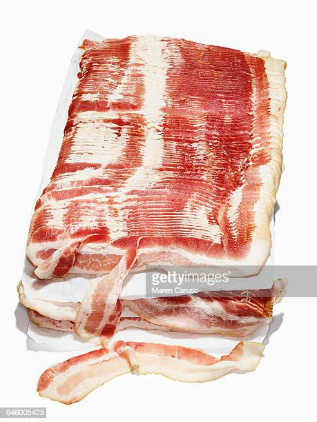 Raw bacon on butcher paper