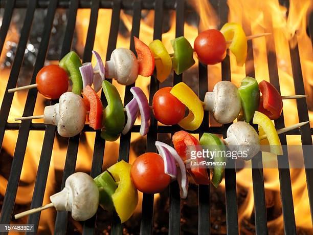 Raw BBQ Vegetable Skewers