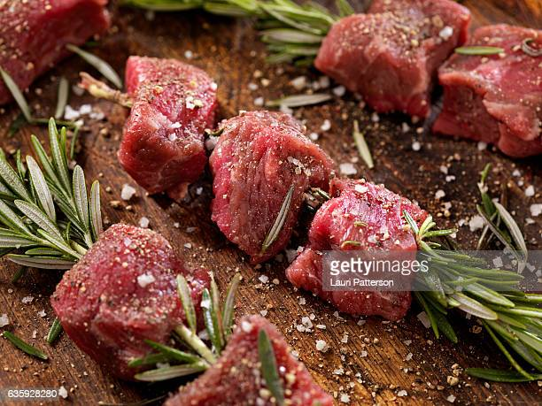 Raw Beef Rosemary Skewers