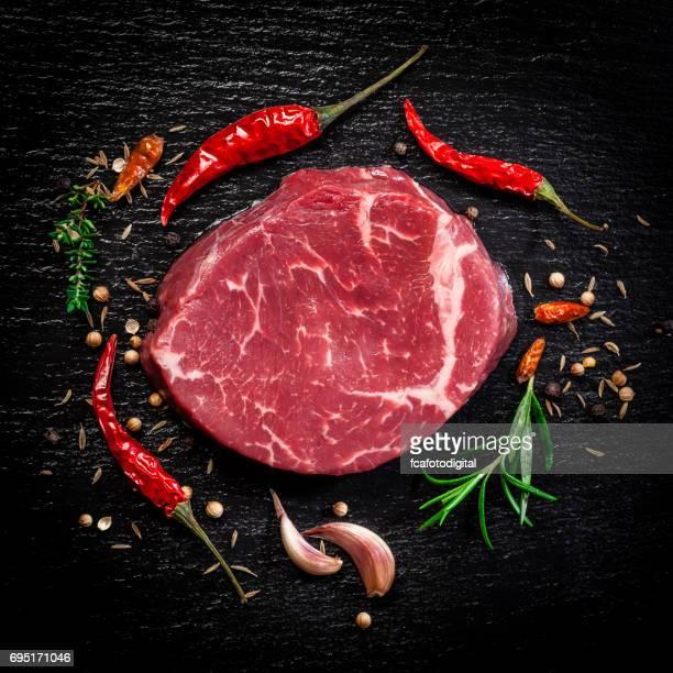 Rohe Rindfleisch steak