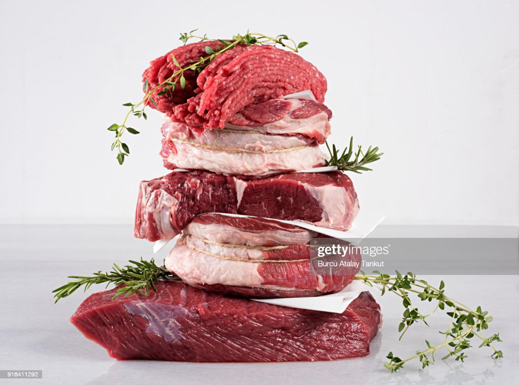 Raw Beef Variations : Stock Photo