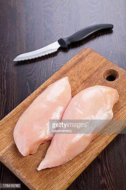 Filet de poulet cru