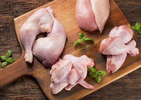 Raw chicken meat 907961332