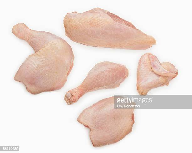 Raw chicken pieces