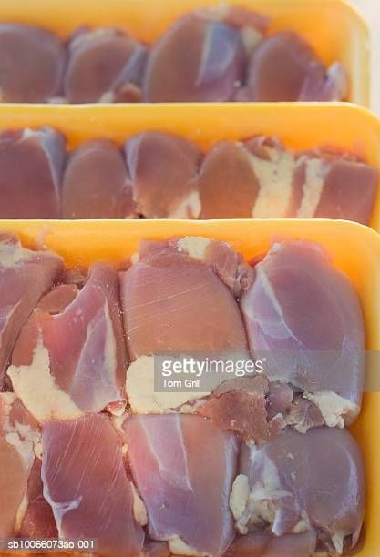 Raw chicken thighs, close-up