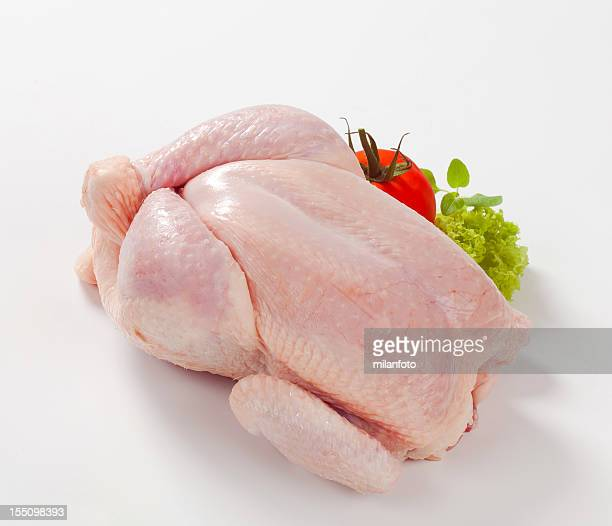 raw chicken with tomato - raw food stock pictures, royalty-free photos & images