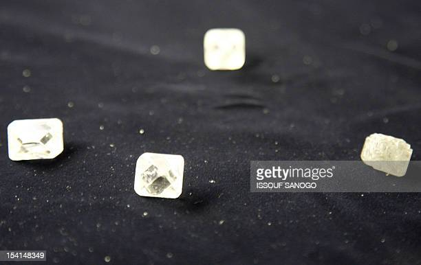 Raw diamonds are seen 10 August 2007 at Gold and Diamond department of Sierra Leone Central Bank in Freetown The first Sierra Leonean diamond was...