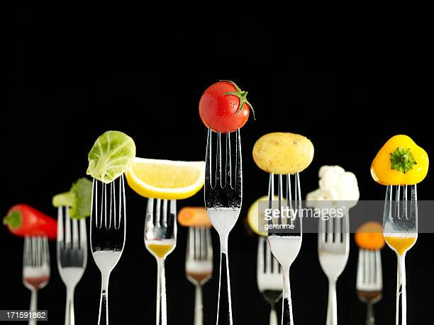 Raw Foods On Forks (Wet)