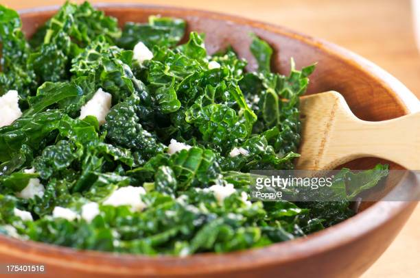 Raw Kale Salad with Goat Cheese