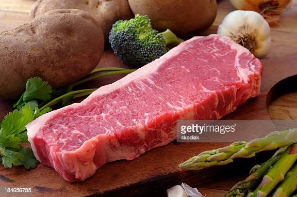 Raw New York Steak