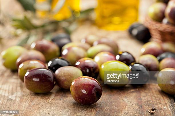 raw olives - green olive stock photos and pictures