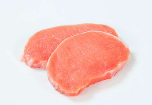 raw pork loin chops 171572445
