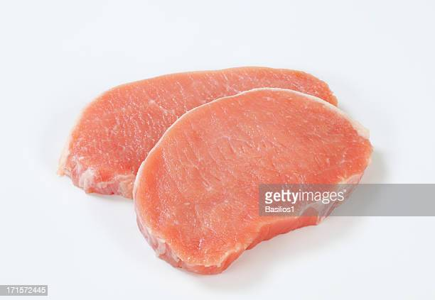 raw pork loin chops - chop stock pictures, royalty-free photos & images