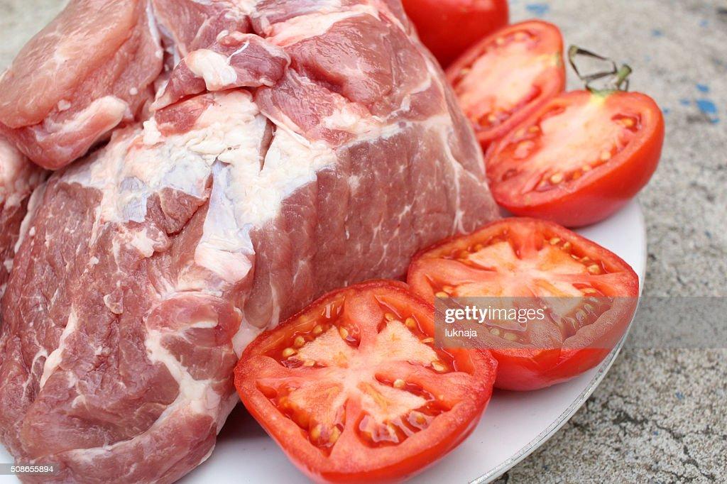 Raw pork : Stock Photo
