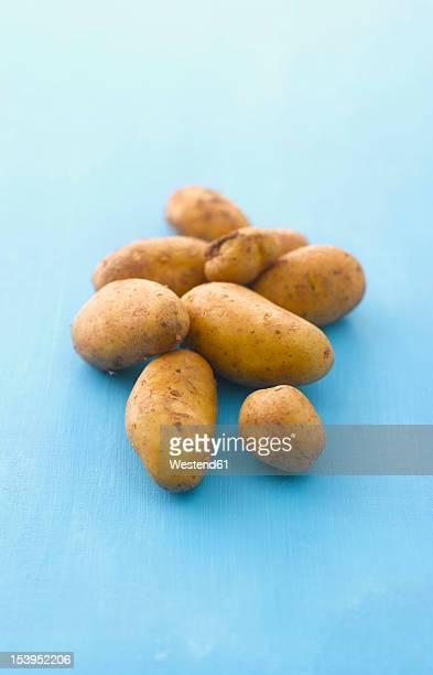 Raw potatoes, close up