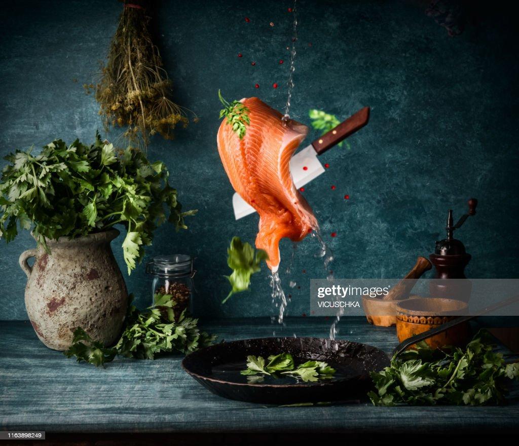 Flying food photography