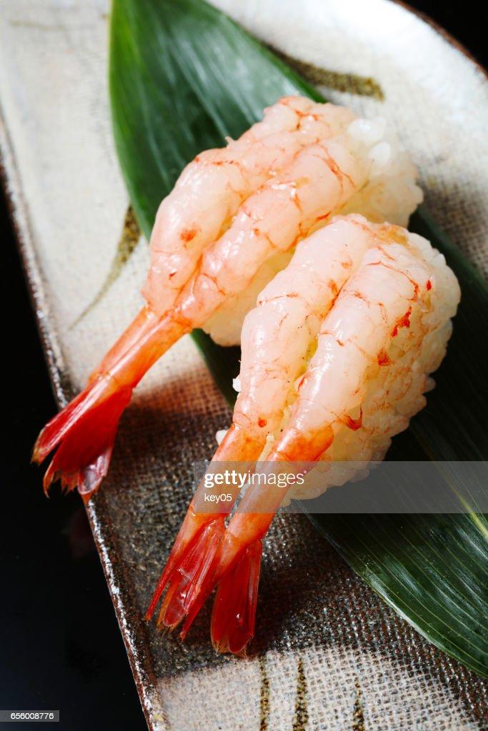 Raw Shrimp Sushi Stock Photo Getty Images
