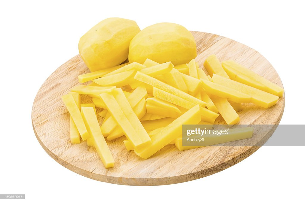 Raw sliced potato : Stock Photo