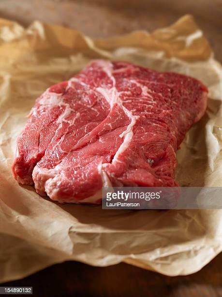 Raw Steak in Butcher Paper