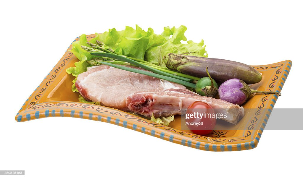 Raw t-bone steak : Stock Photo