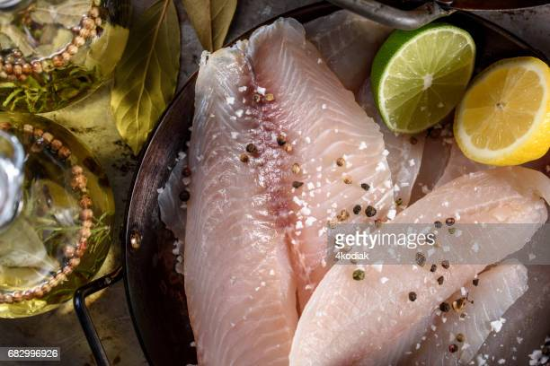 Raw Tilapia Fillet with Spices
