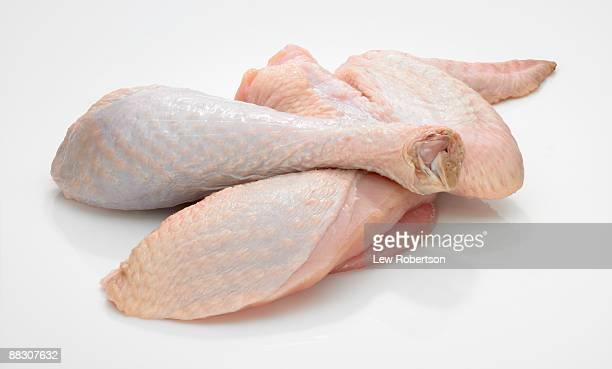 Raw turkey pieces