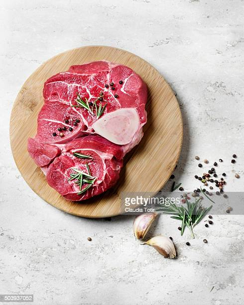 Raw veal shank
