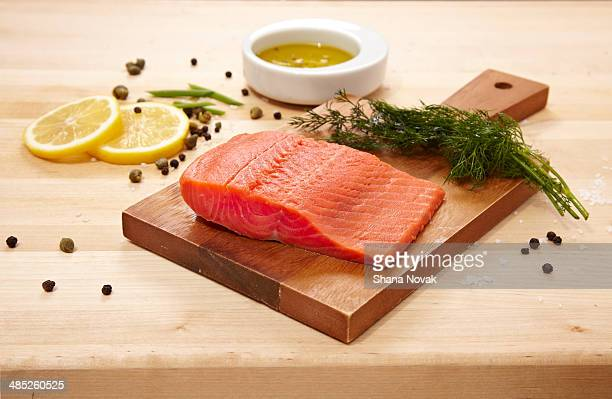 Raw Wild Salmon With Seasonings