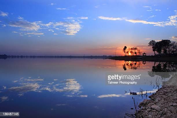 Rawal lake sunset