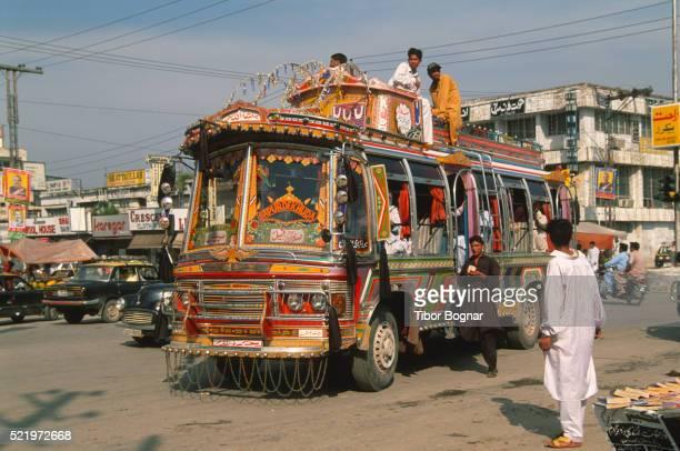 Rawalpindi, street scene, bus