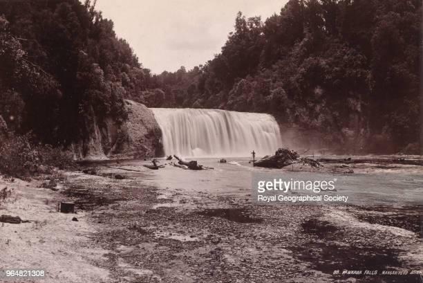 Rawkawa falls, Mangawhero River, New Zealand, 1908.