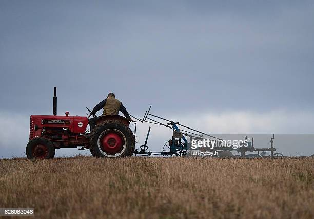 Ray Alderson from Darlington who won the European ploughing championship in 2015 and 2016 takes part in the annual ploughing match on November 27,...