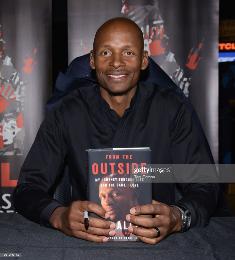 Ray Allen attends his book signing and 20th anniversary screening of Spike Lee's 'He Got Game' at TCL Chinese 6 Theatres on April 24, 2018 in Hollywood, California.