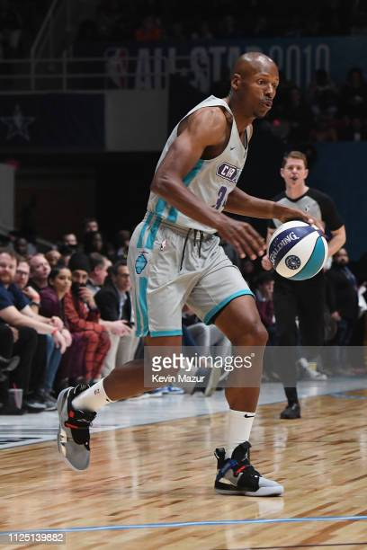 Ray Allen handles the ball during the 2019 NBA AllStar Celebrity Game at Bojangles Coliseum on February 16 2019 in Charlotte North Carolina