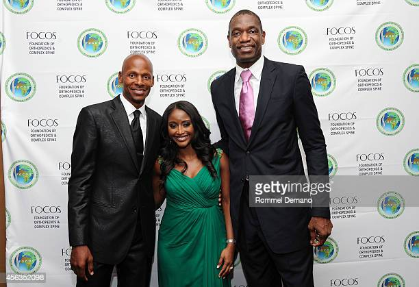 Ray Allen Isha Sesay and Dikembe Motombo attend the 7th Annual Focos Gala at Mandarin Oriental Hotel on September 29 2014 in New York City