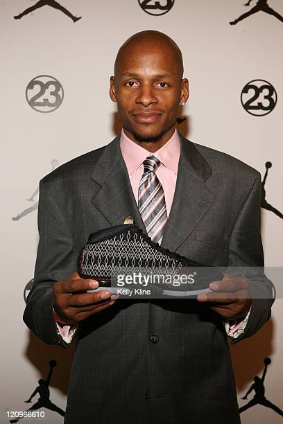 Ray Allen of the Boston Celtics on the Jordan Brand House of 23 event celebrating the launch of the Air Jordan 23 during AllStar Weekend on February...