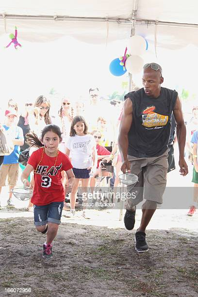 Ray Allen of the Miami Heat enjoys the Miami Heat Family Festival on April 7 2012 at American Airlines Arena in Miami Florida NOTE TO USER User...