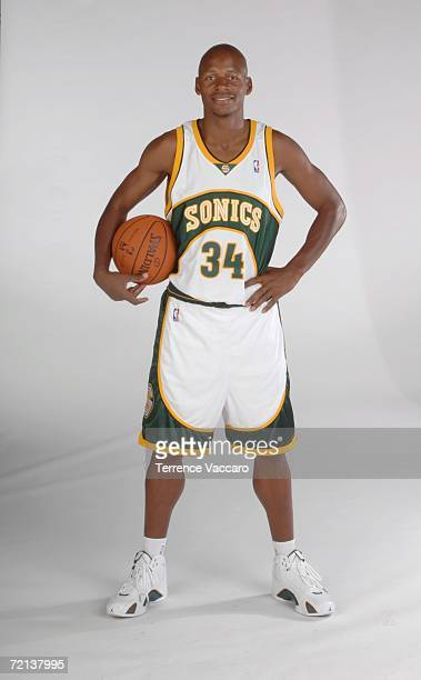 Ray Allen of the Seattle Sonics poses during NBA Media Day on October 2, 2006 at the Furtado Center in Seattle, Washington. NOTE TO USER: User...