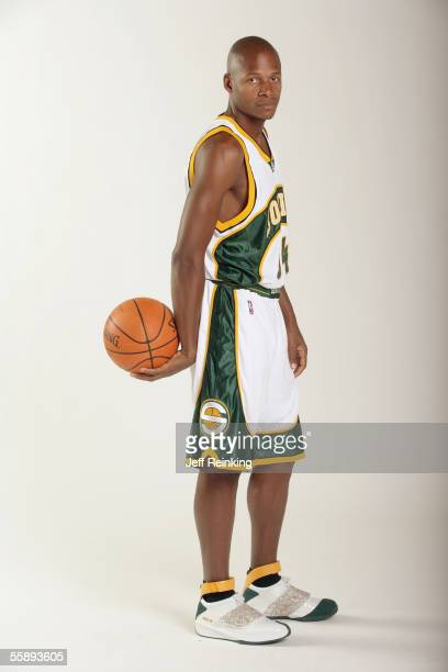 Ray Allen of the Seattle Sonics poses for a portrait during Sonics Media Day on October 3 2005 in Seattle Washington NOTE TO USER User Expressly...