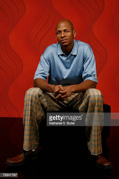 Ray Allen of the Seattle Supersonics poses for a portrait during All Star Media Availability on February 15 2007 at The Palms Resort and Casino in...