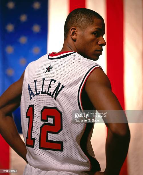 Ray Allen of the United States National Team poses for a photo for the 2000 Summer Olympics in Sydney Australia NOTE TO USER User expressly...