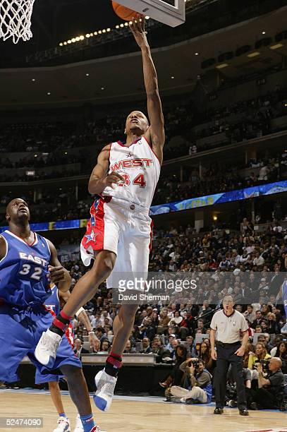 Ray Allen of the Western Conference AllStars shoots during the 54th AllStar Game part of 2005 NBA AllStar Weekend at Pepsi Center on February 20 2005...